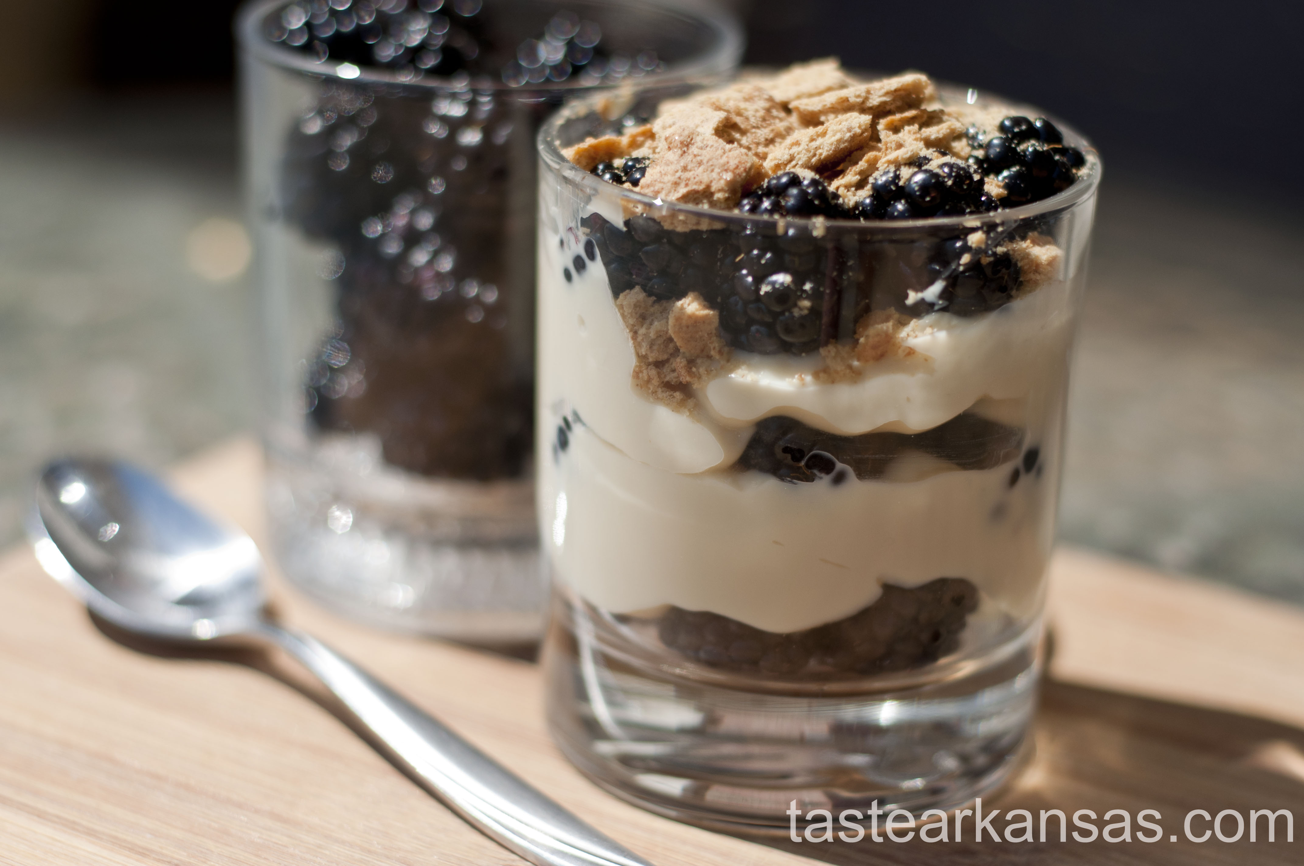 Blackberry Graham Cracker Parfait
