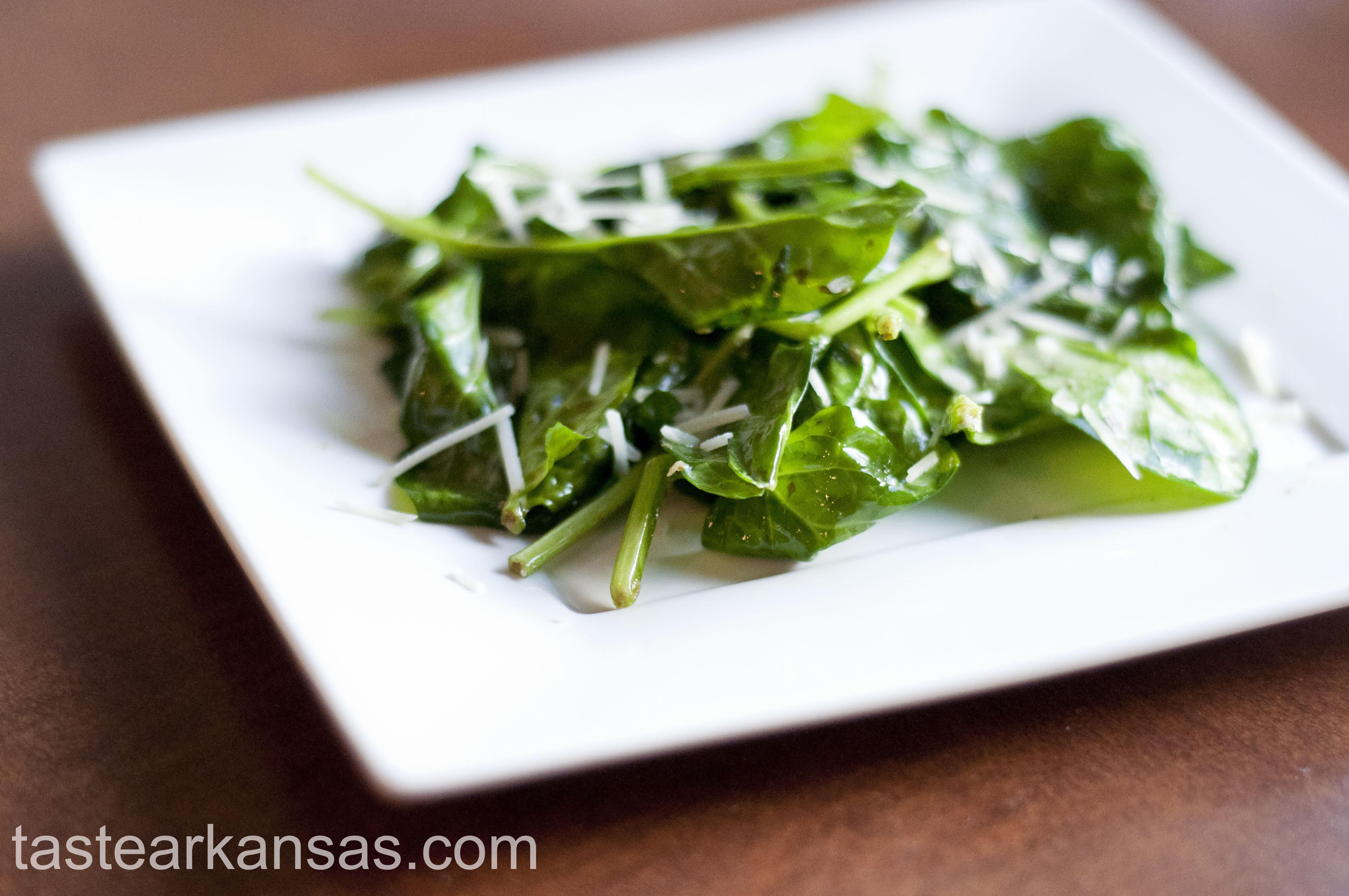 Sauteed Parmesan Pesto Spinach
