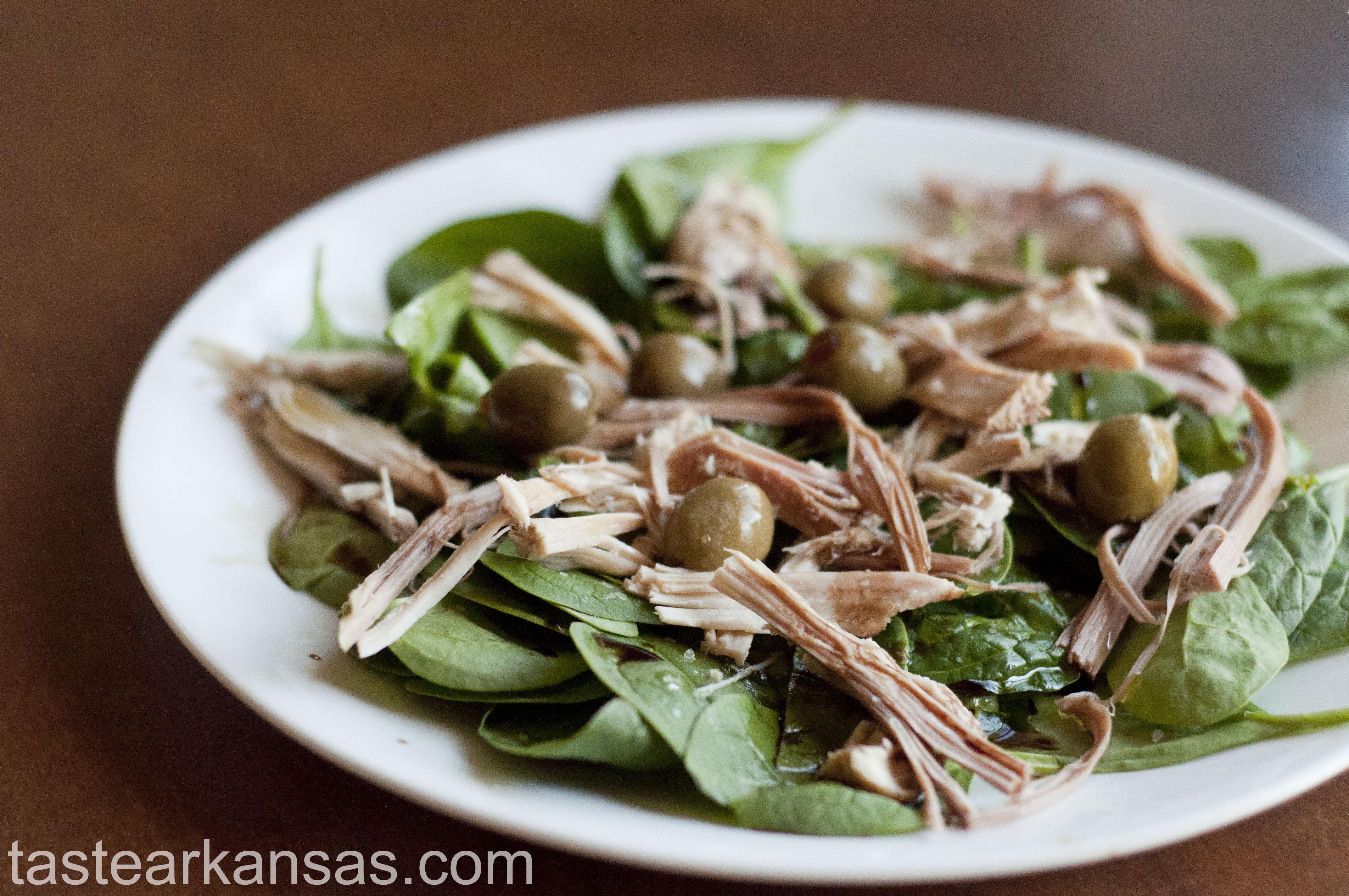 Leftover Turkey Spinach Salad