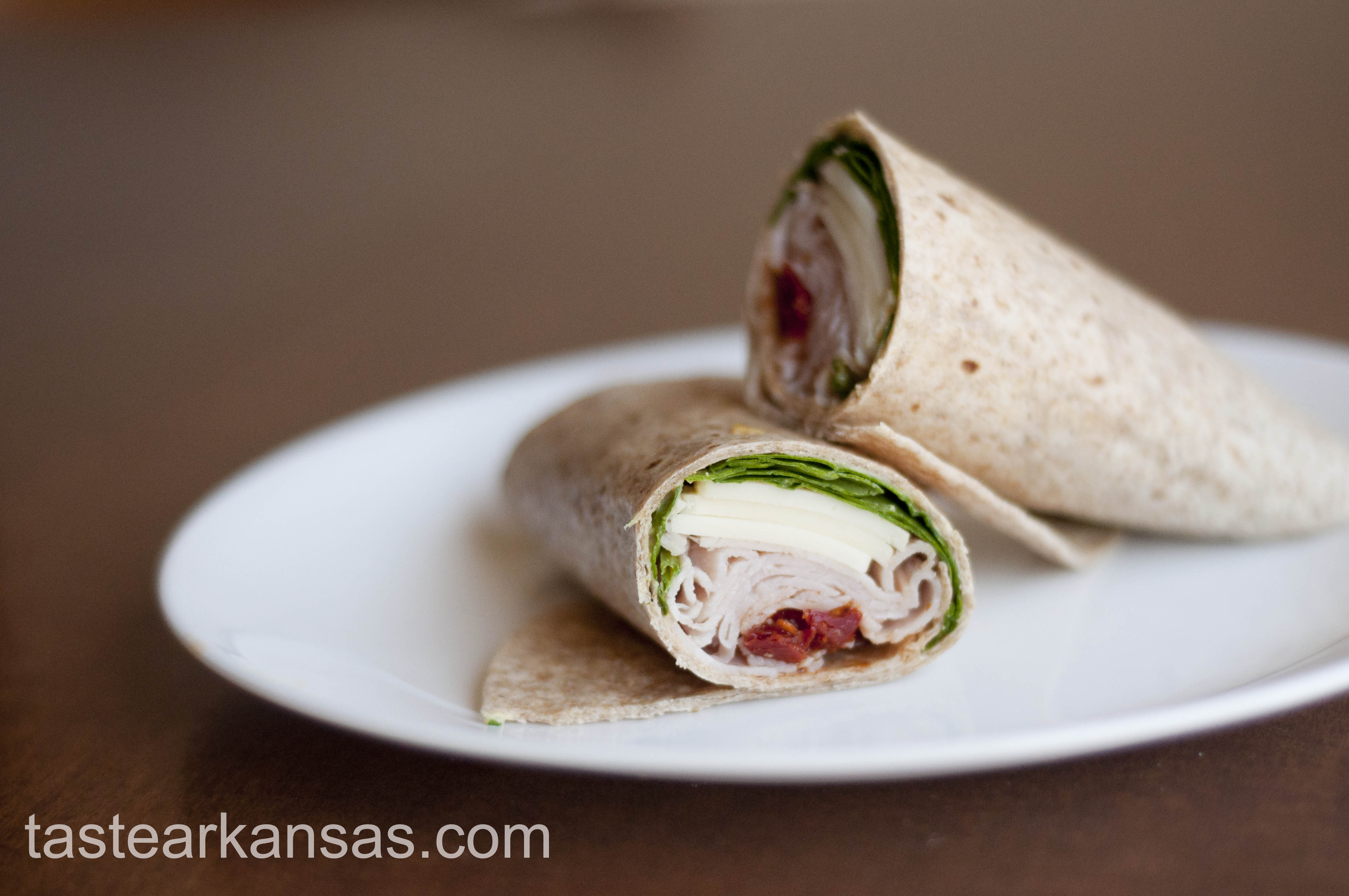 Spinach & Sundried Tomato Turkey Wrap